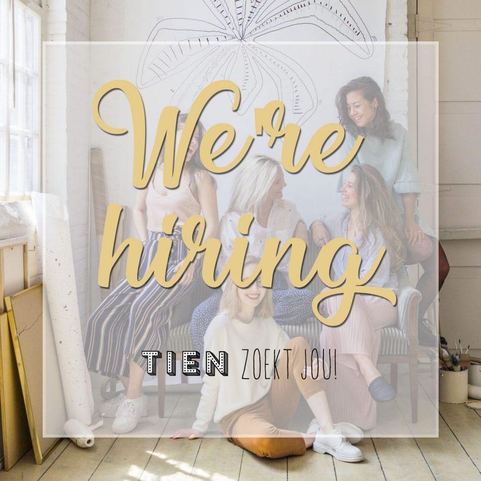 TIEN Tilburg - we're hiring - TIEN zoekt jou! - vacatures